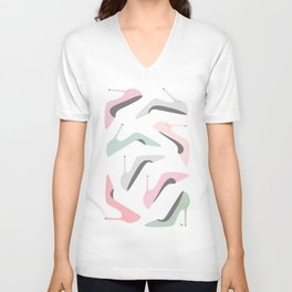 Shoe Love Fashion Illustration Unisex V-Neck