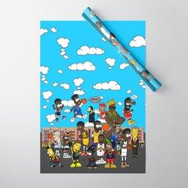 Finals  Bootleg B-ART Mural Wrapping Paper