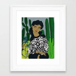 She will tell the story Framed Art Print