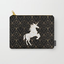Geometric Unicorn Carry-All Pouch