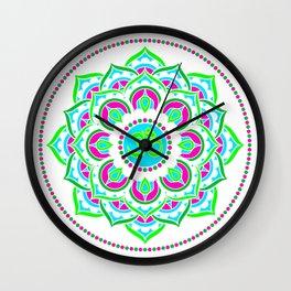 Spring Mandala   Flower Mandhala Wall Clock