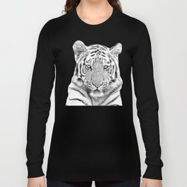 Black and white tiger Long Sleeve T-shirt