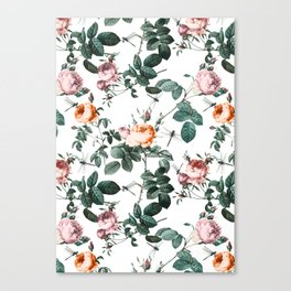 Floral and Winged Darter Canvas Print