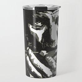 Harmonica_black and white Travel Mug