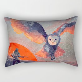 Owl Hunt Rectangular Pillow