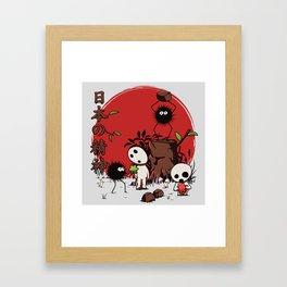 Kodamas & Susuwataris Framed Art Print
