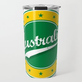 Australia, circle, green yellow Travel Mug