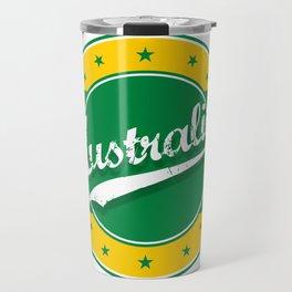 Australia, circle, green yellow Travel Mug