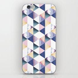 Watercolor geometric pastel colored seamless pattern iPhone Skin