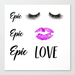 Epic Love Canvas Print