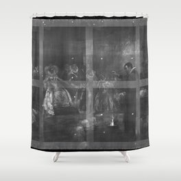 X-ray imaging of John Dee painting by Henry Gillard Glindoni. 1527-1608 Shower Curtain