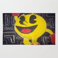 pacman Area & Throw Rugs featuring pacman by RaieshaM