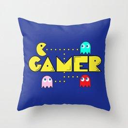 Classic Gamer: Pacman Throw Pillow