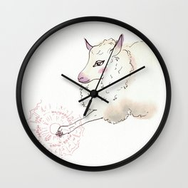 Wise Sheep Wall Clock