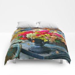 Fall Floral Arrangement Comforters