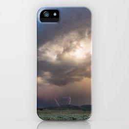 Yellowstone National Park - Sunset storm over the Washburn Range iPhone Case