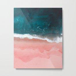 Turquoise Sea Pastel Beach III Metal Print