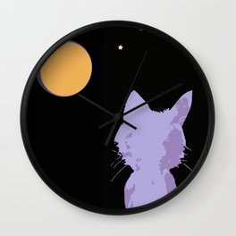 Thinking About U Under the Moon Wall Clock