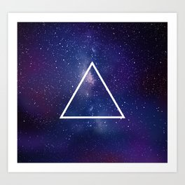 Space Geometry 1 Art Print