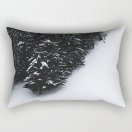 Black and white spruce forest and snow Rectangular Pillow