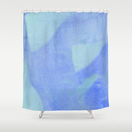 ocean wave water color Shower Curtain