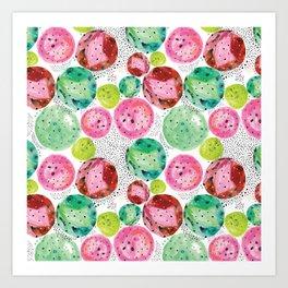 Planets of colors Art Print