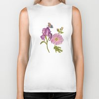 botanical Biker Tanks featuring Botanical by Catherine Holcombe