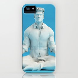 Keeping Calm in Stressful Situations as a Mental Concept iPhone Case