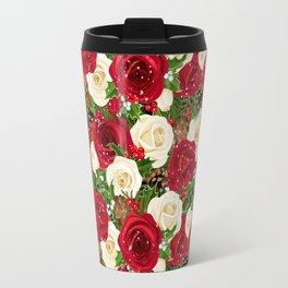 Christmas roses garden Travel Mug