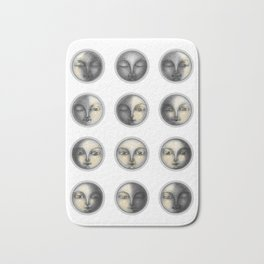 moon phases and romanticism Bath Mat