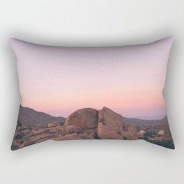Pink Desert Palm Desert Rectangular Pillow