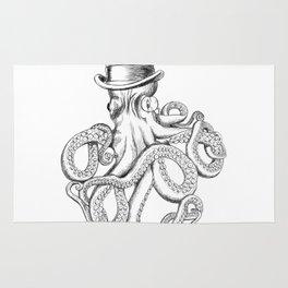 Gentlemanly octopus Rug