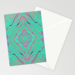 Green marble effect Stationery Cards