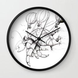 Hermit Crab Takes a Trip Wall Clock