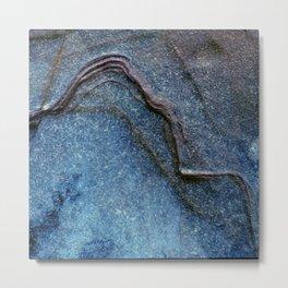 Blue Moonlight With Dark Ridges Metal Print