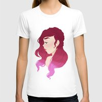 burgundy T-shirts featuring Burgundy by Tori Dubis