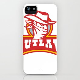 Bandit With Outlaw Text Retro iPhone Case