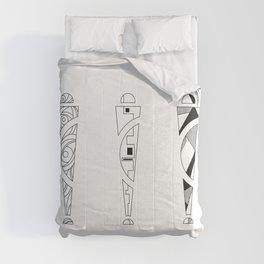 trio. art nouveau black / white mix fill Comforters