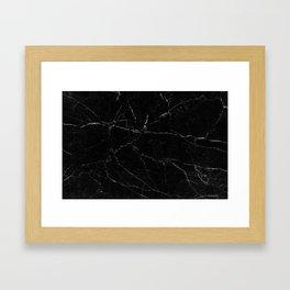 Black Marble Print Framed Art Print