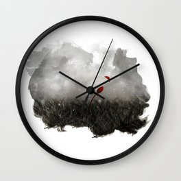 Forgotten - Red Flower Wall Clock