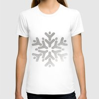 snowflake T-shirts featuring Snowflake by iMei