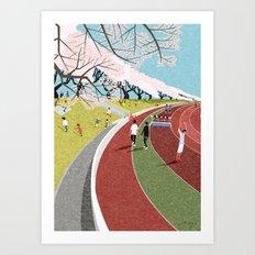 Musashino athletic stadium Art Print
