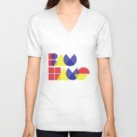 bauhaus V-neck T-shirts featuring Bauhaus by Romivavi