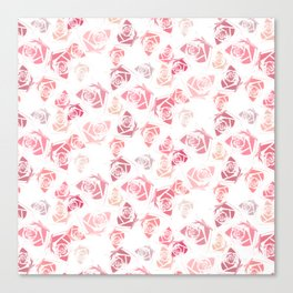 pink rose pattern Canvas Print