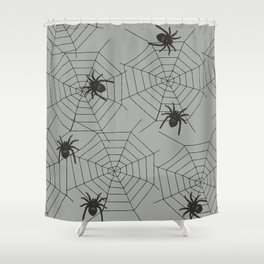 Hallween Spider web Shower Curtain