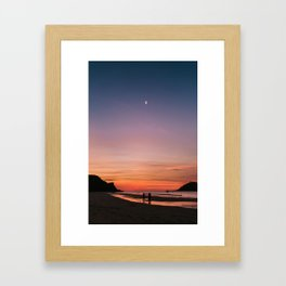 Tropical Moonlit Beach Sunset in the Philippines Framed Art Print