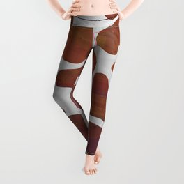 Cow Brown and White Print Leggings