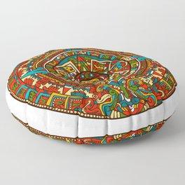 Aztec Mythology Calendar Floor Pillow