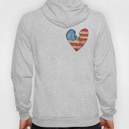 Torn Heart Flag Held Together With a Safety Pin Hoody
