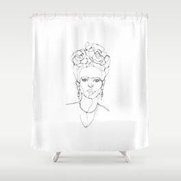 One Line - Frida Shower Curtain